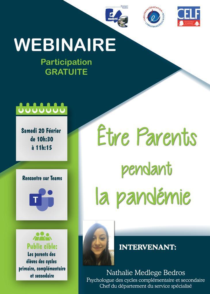Webinaire: Être parents pendant la pandémie